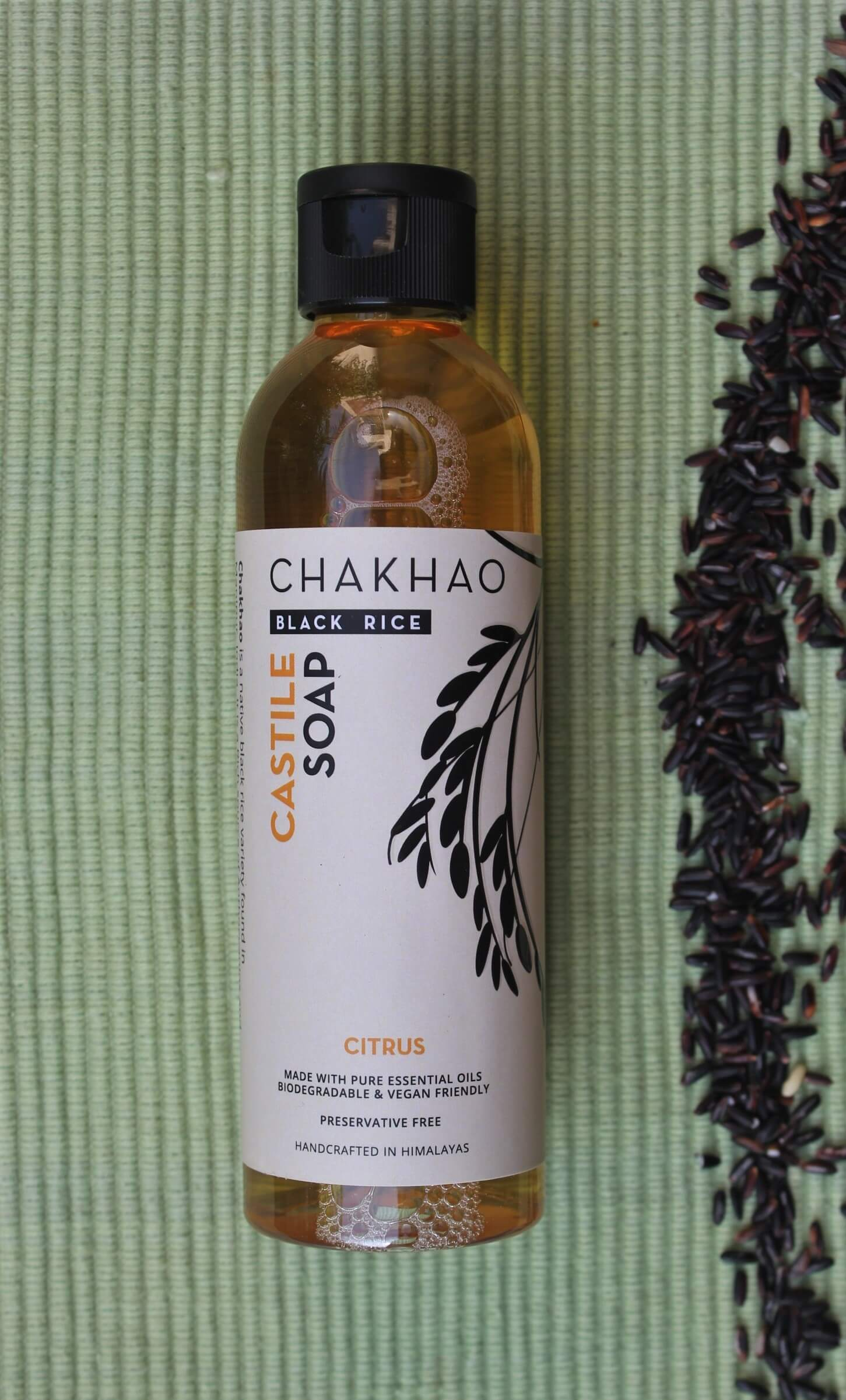 Chakhao-Black-Rice-Citrus-Liquid-Castile-Soap-bottle