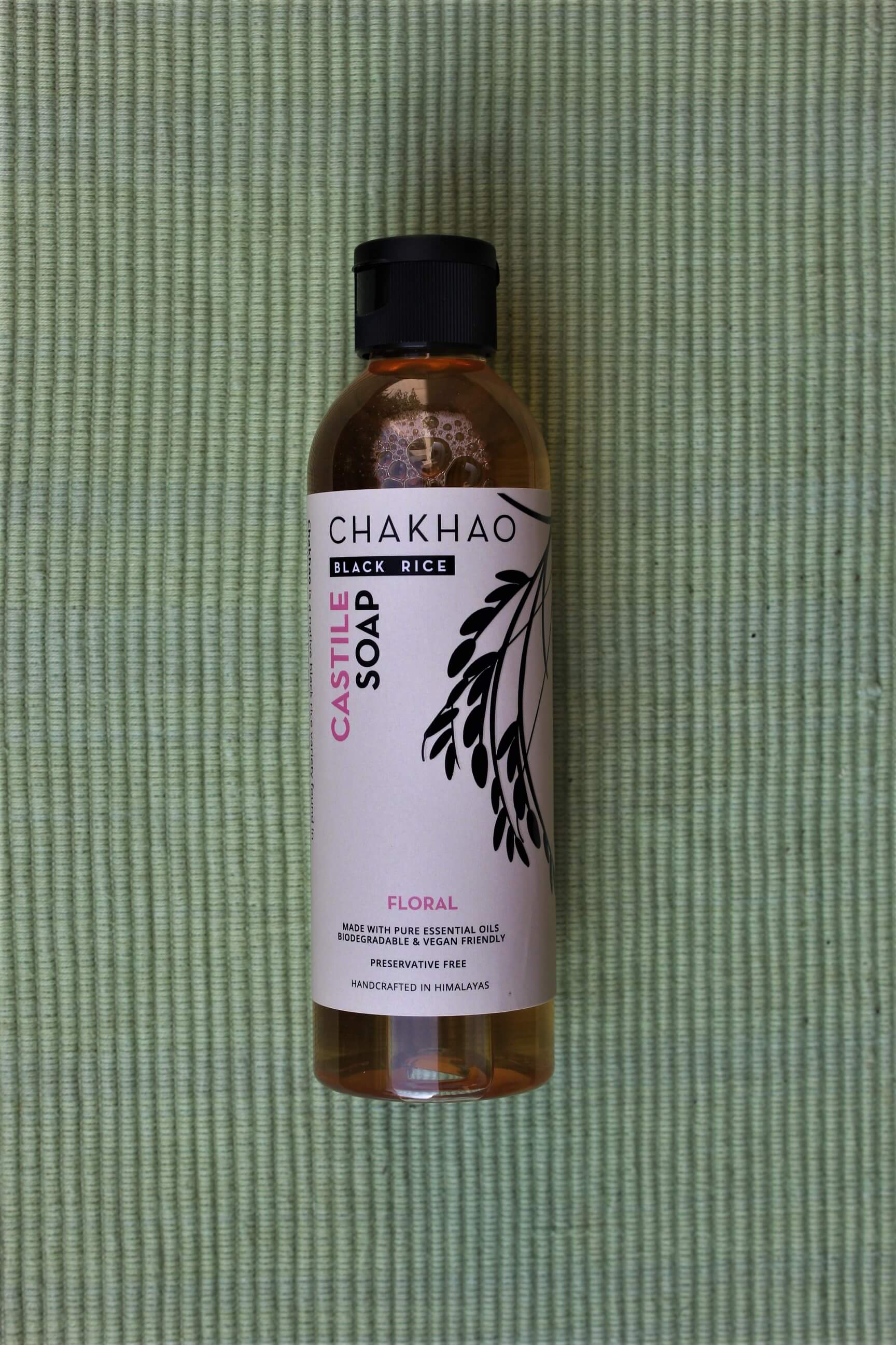 Chakhao-Black-Rice-Floral-Liquid-Castile-Soap-bottle